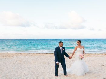 Pink and Gold Destination Wedding in Kukua Punta Cana