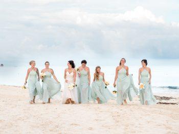 Romantic Mint Green Destination Wedding in Playa del Carmen