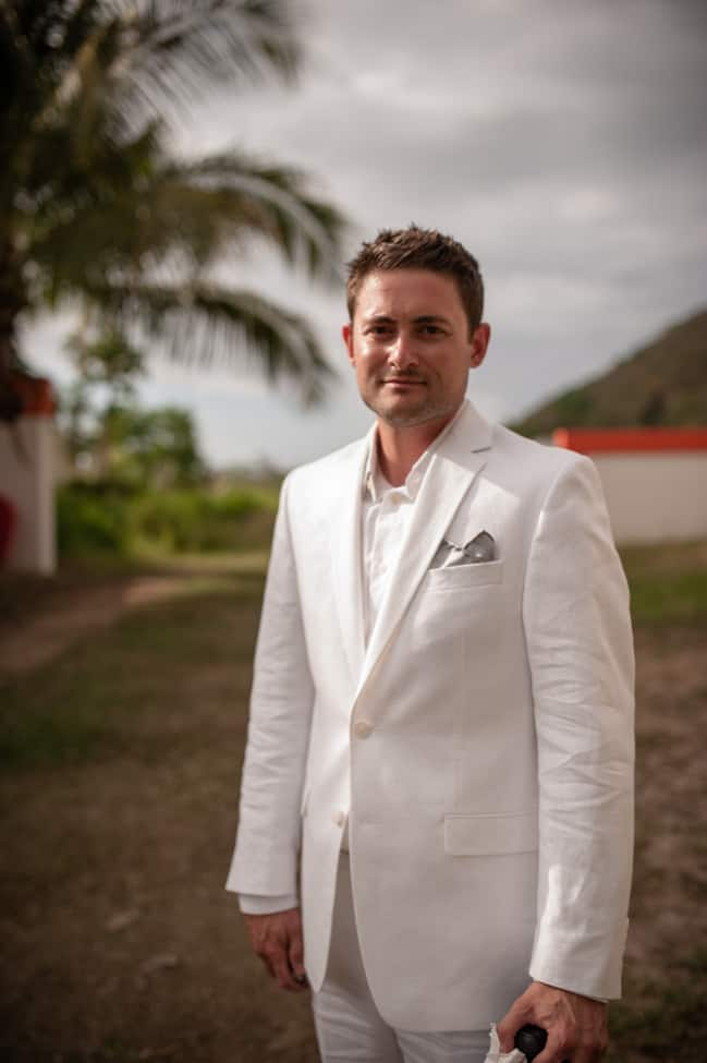 Groom in a Puerto Rico destination wedding