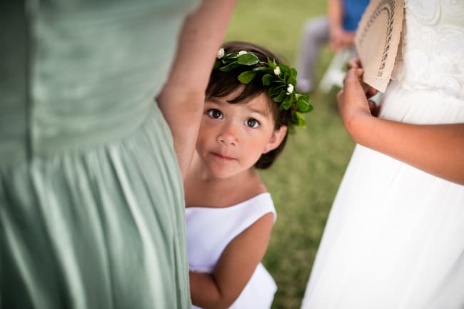 beach wedding flower girl hair crown