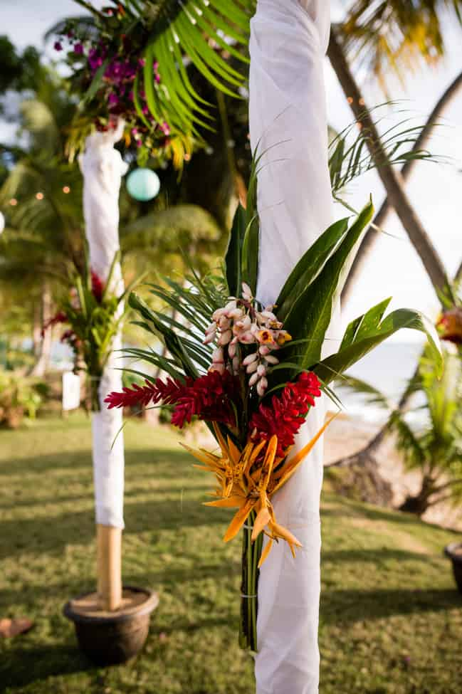 Puerto Rico destination wedding arch