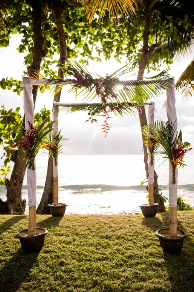 Puerto Rico beach wedding arch