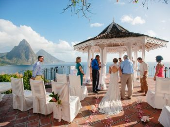 A Destination Wedding in St Lucia with Stunning Views of The Piton Mountains