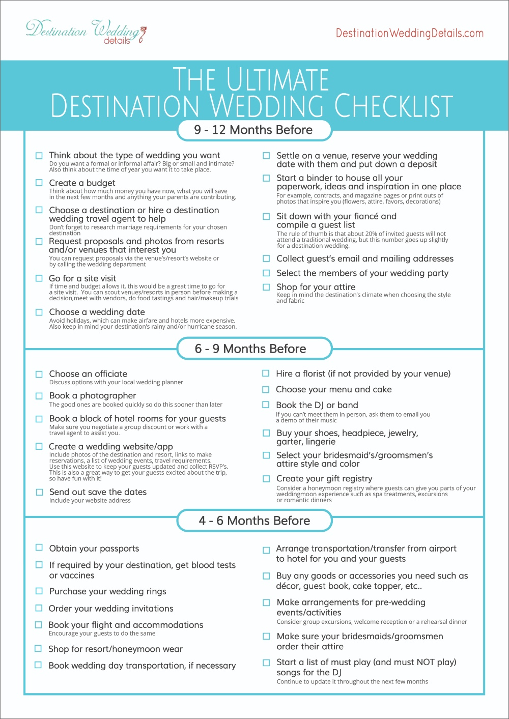 Download the Destination Wedding Checklist