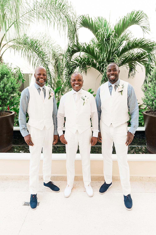 Elegant Chic Destination Wedding Groomsmen