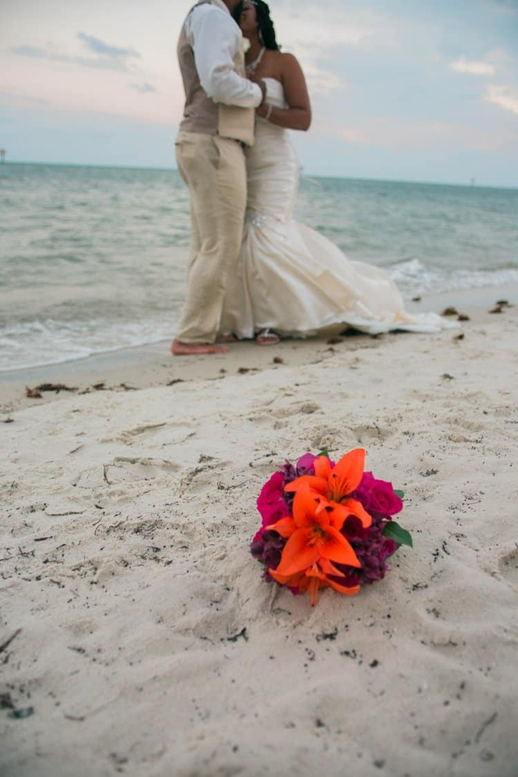 Elopement on a beach in Key West