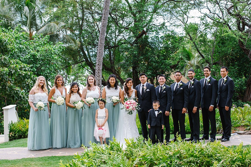 Garden destination wedding in Kapolei Hawaii 0008
