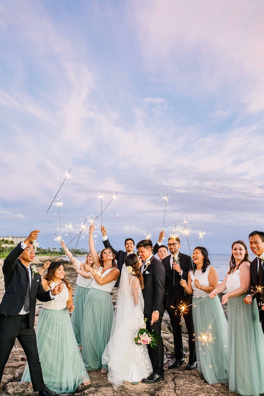 Garden destination wedding in Kapolei Hawaii 0032