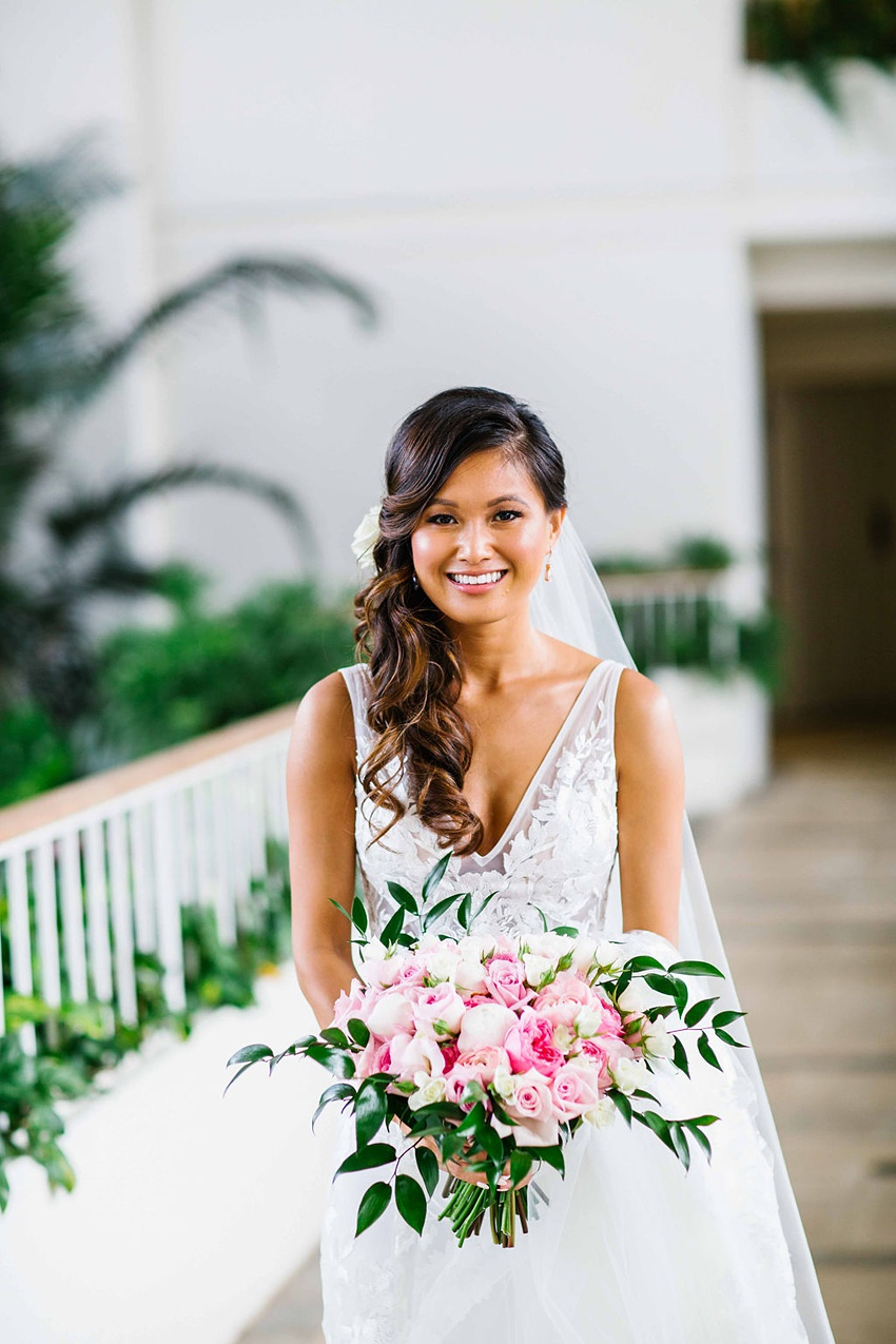 Garden destination wedding in Kapolei Hawaii 0083