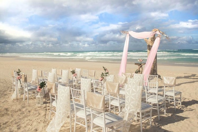 Hard Rock Wedding Driftwood Romance Pink Ceremony
