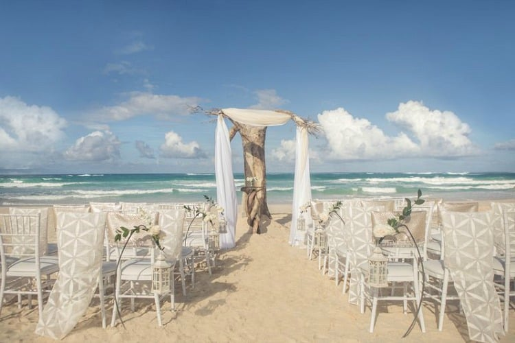 Hard Rock Wedding Driftwood Romance White Ceremony