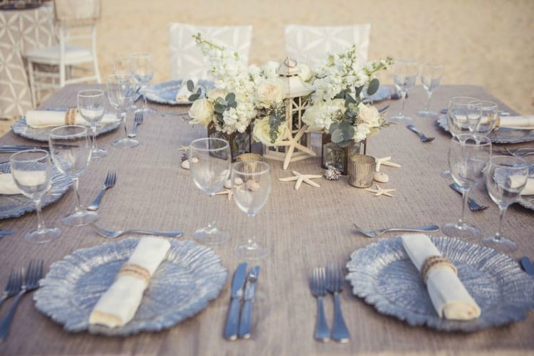 Hard Rock Wedding Driftwood Romance White Table
