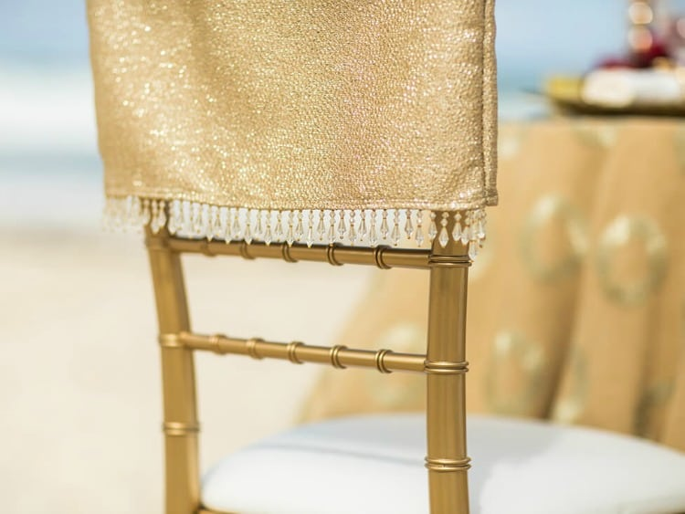 Hard Rock Wedding Golden Radiance chairs