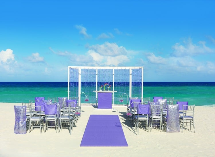 Hard Rock Wedding Purple Shimmer Ceremony