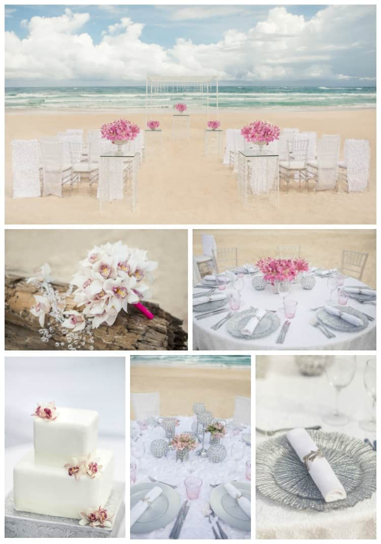 Hard Rock Wedding Seaside Shimmer Details in Pink