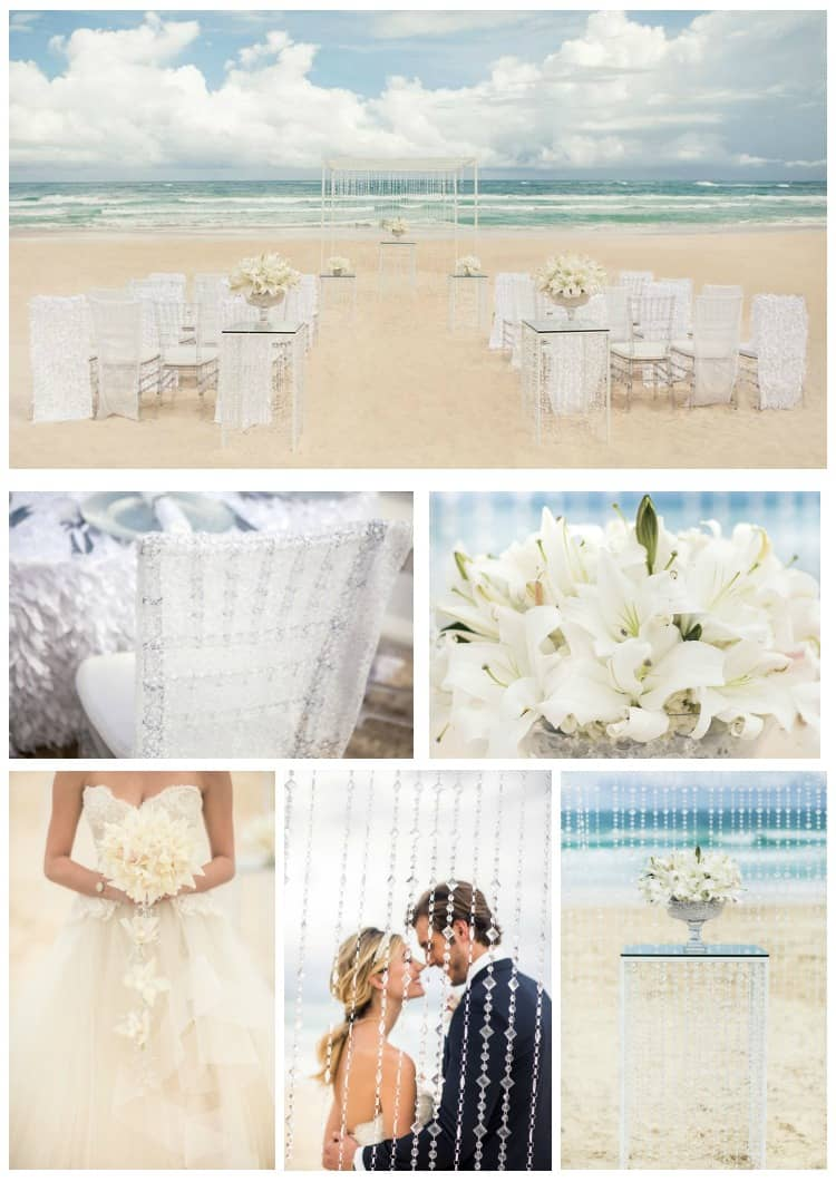 Hard Rock Wedding Seaside Shimmer White Details