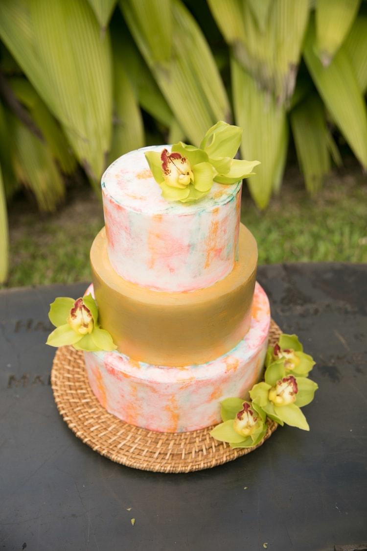 Hawaii garden wedding 41