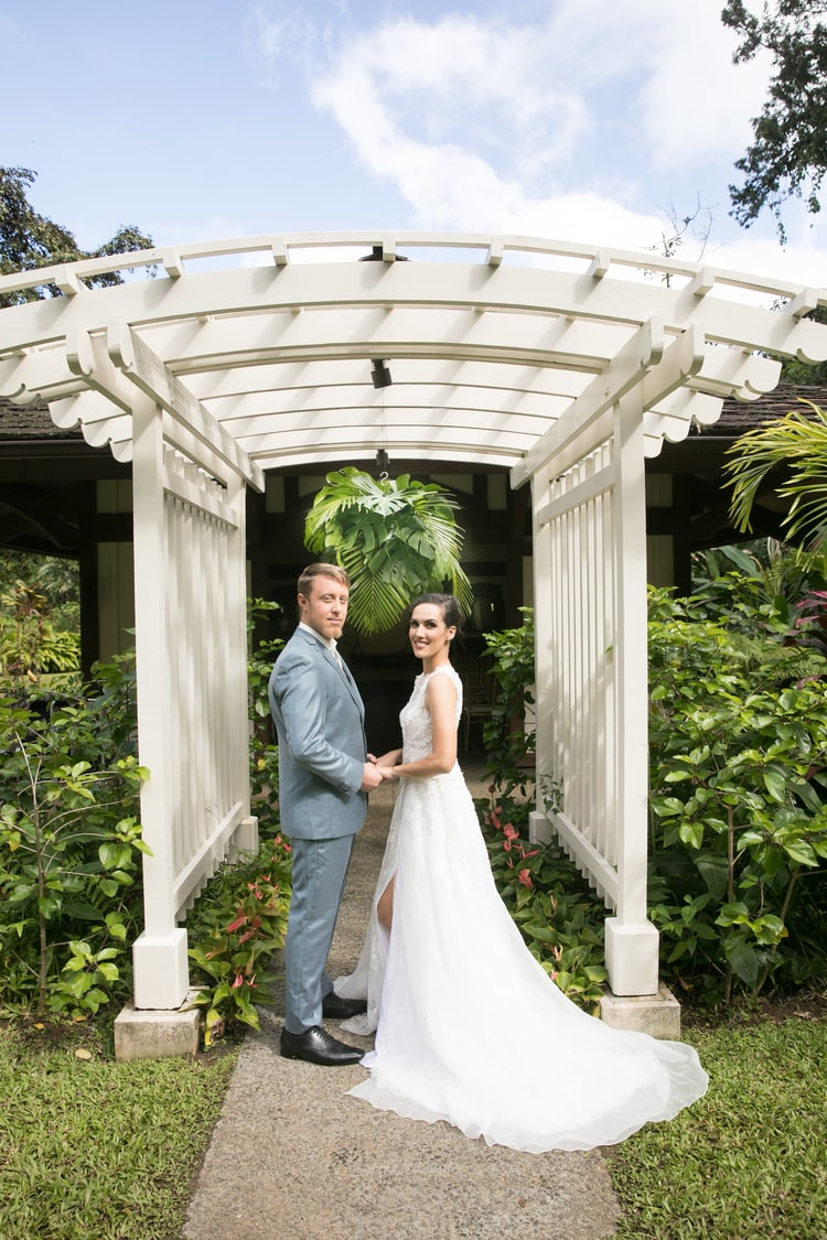 Hawaii garden wedding 45