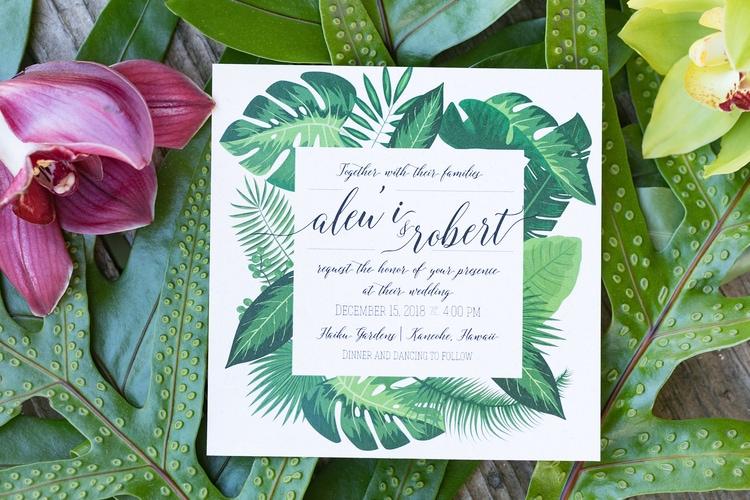 Hawaii garden wedding 6