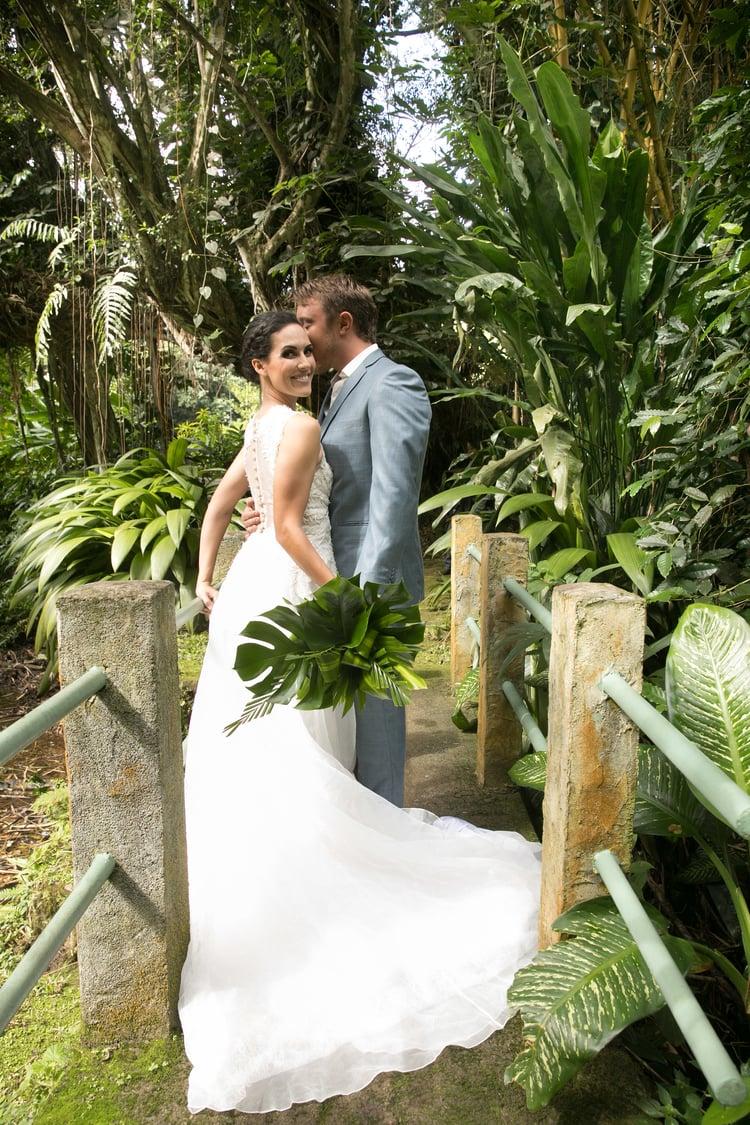 Hawaii garden wedding 73