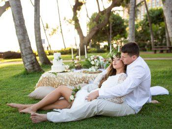 Elegant Sunset Wedding at Hilton Hawaiian Villiage