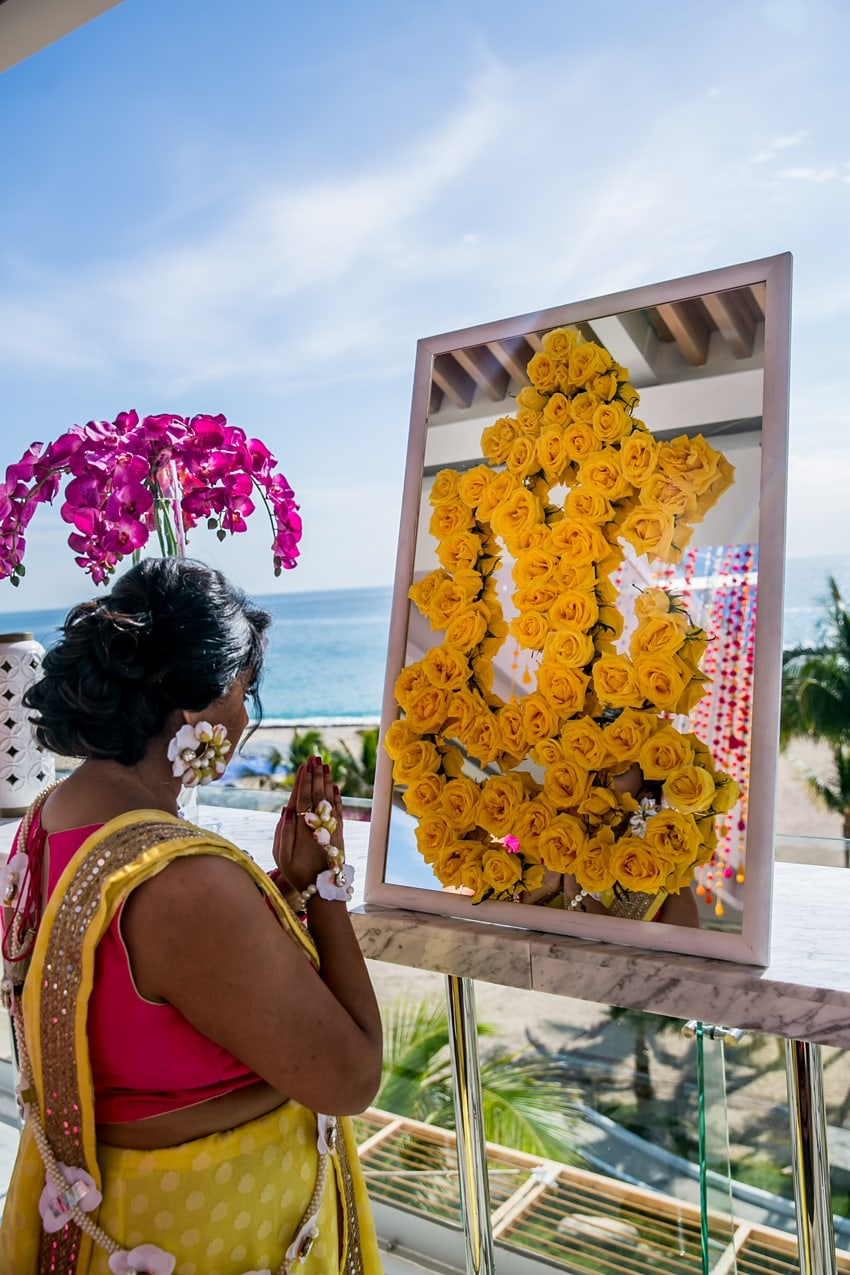 Indian Destination Wedding pithi Cabo 0042