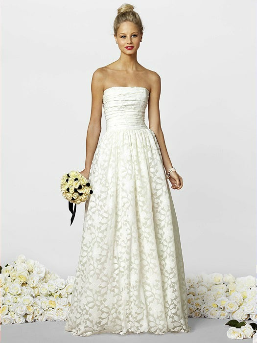 Informal beach wedding dress