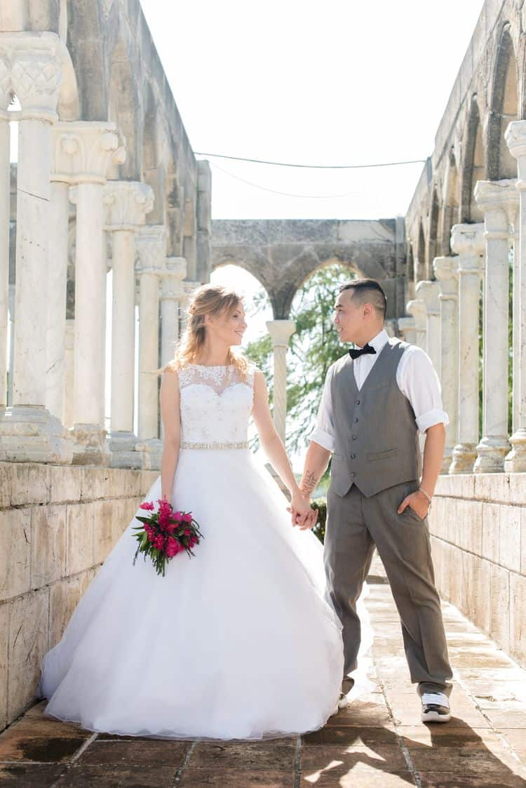 An Intimate Destination Wedding in Nassau at the French Cloisters ...
