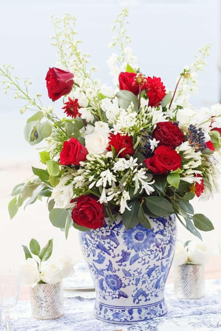 Red, White & Blue Wedding Inspiration at the Key Largo Lighthouse ...
