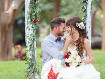 Red, White & Blue Wedding Inspiration at the Key Largo Lighthouse Beach