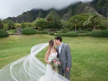 Dreamy Kualoa Ranch Wedding with Spectacular Views