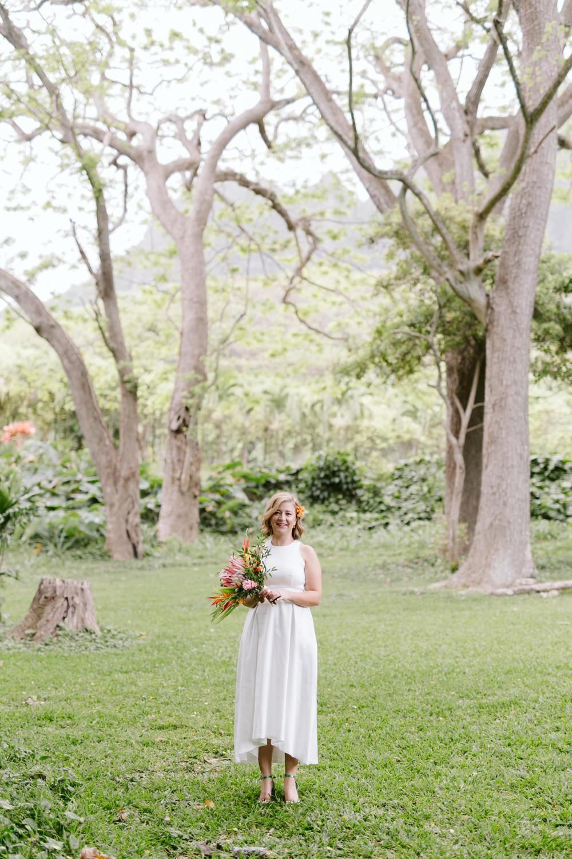 Laid Back Hawaiian Bridal Look