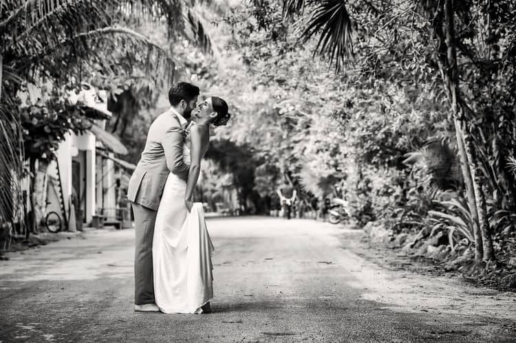 Mayan destination wedding at Casa Violeta in Tulum_34