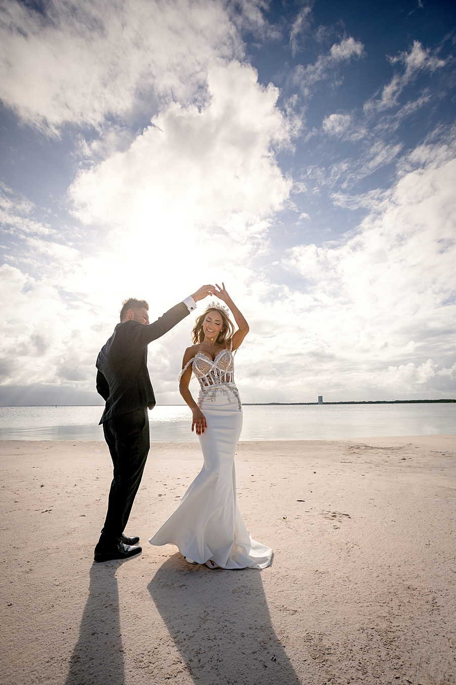 Mexico Beach Wedding Portraits