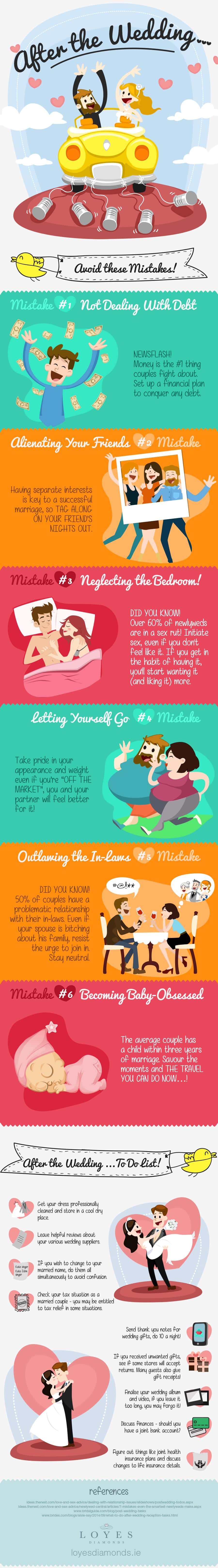 Mistakes to avoid after the wedding 1