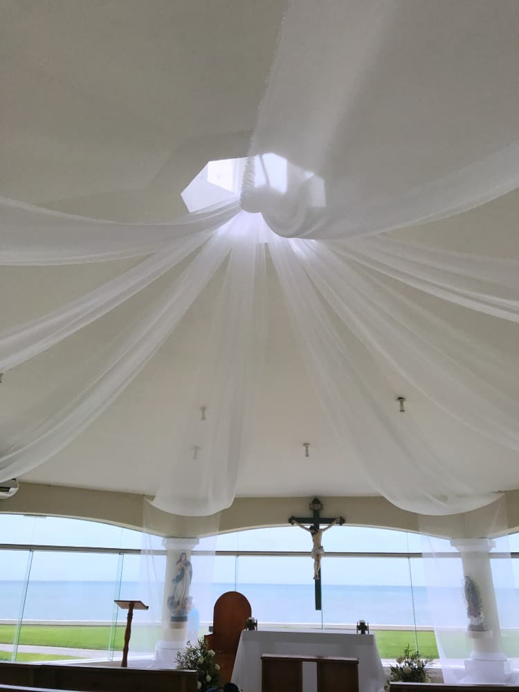 Moon Palace Cancun destination wedding chapel ceiling