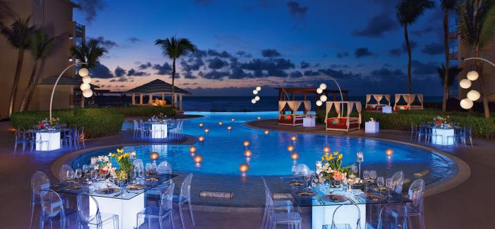 Now Jade Riviera Cancun Destination Weddings reception 2