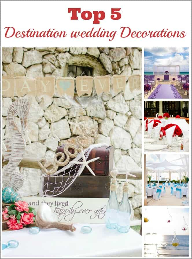 destination wedding decorations
