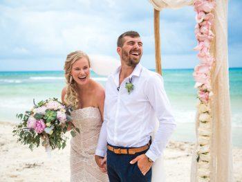 Beach Boho Playa Del Carmen Destination Wedding