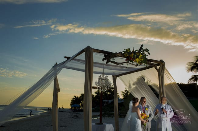 Real wedding in Playa del Carmen