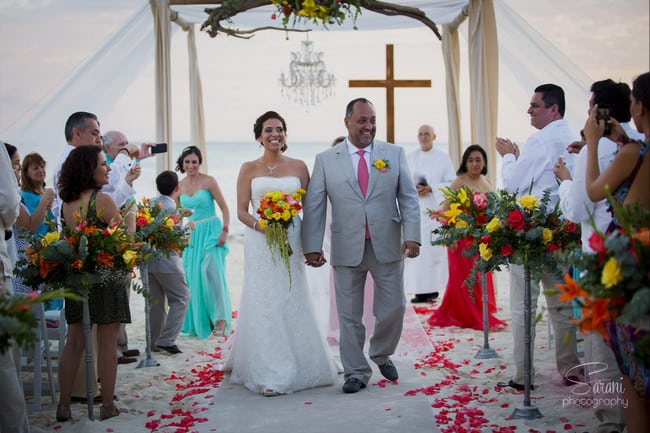Playa Del Carmen Beach Wedding