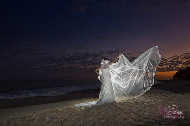 Beach wedding in Playa Del Carmen