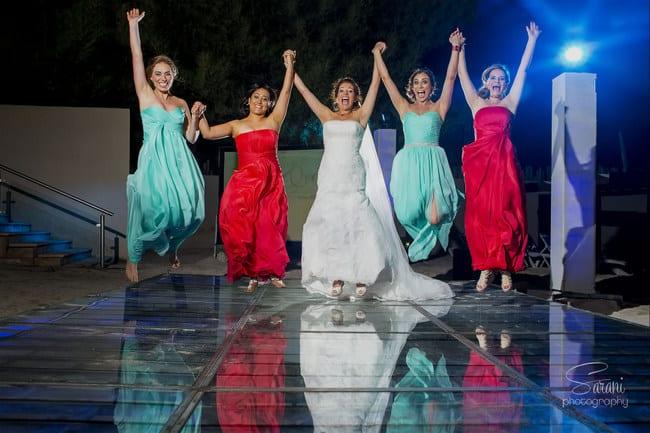 coral and tiffany blue destination wedding