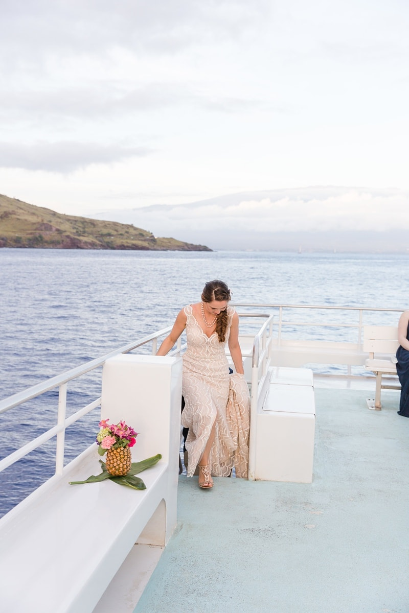 Pride of maui catamaran wedding 0065