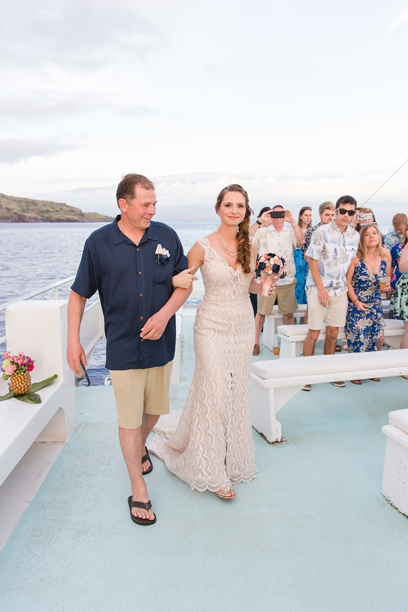 Pride of maui catamaran wedding 0066