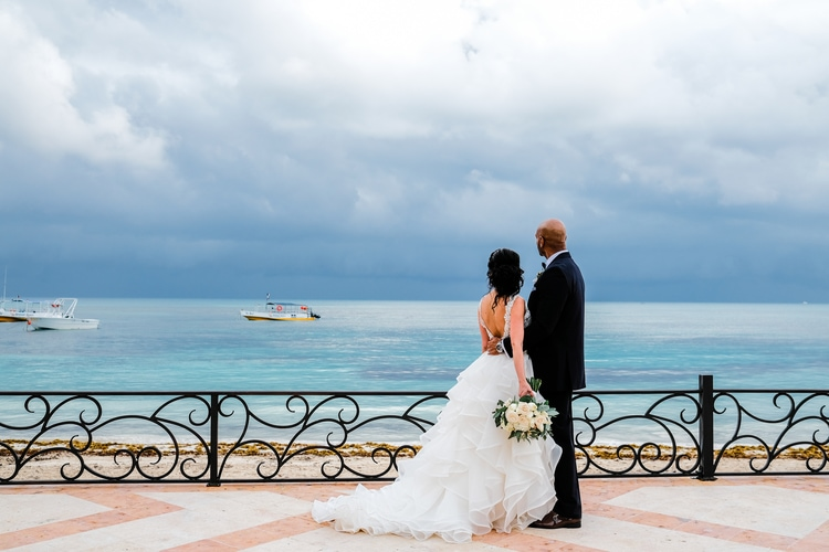Private Oceanside destination wedding in riviera maya 78