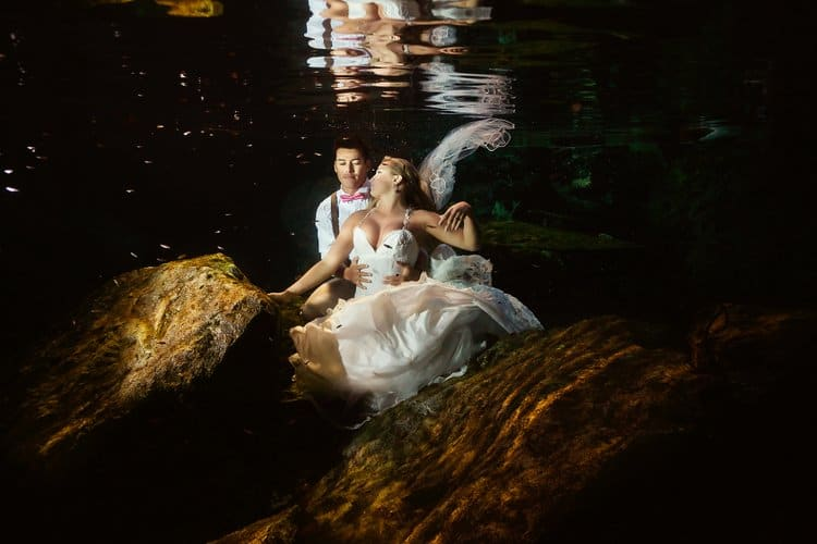 Cenote Trash the Dress Photos