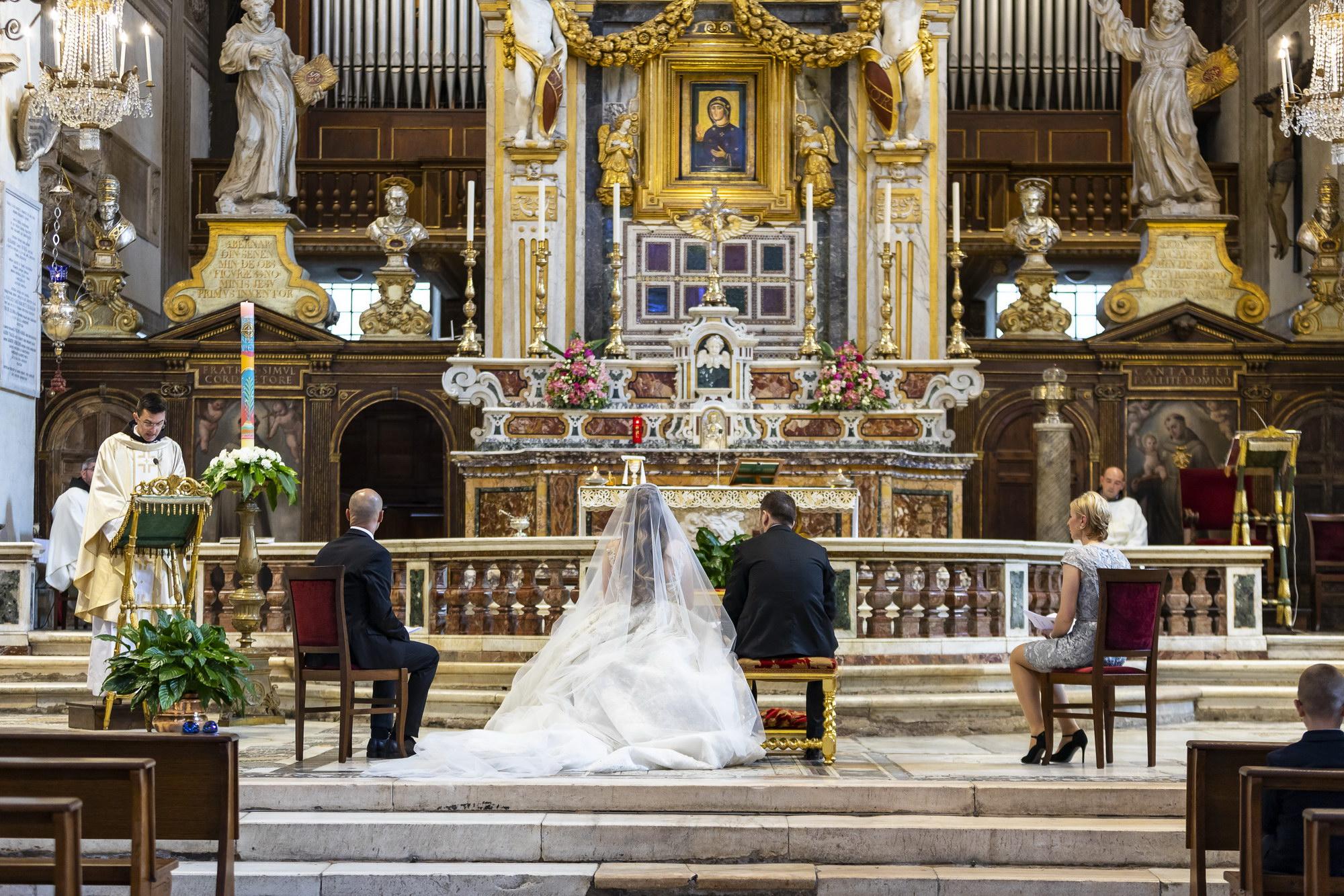 Roman Church Wedding