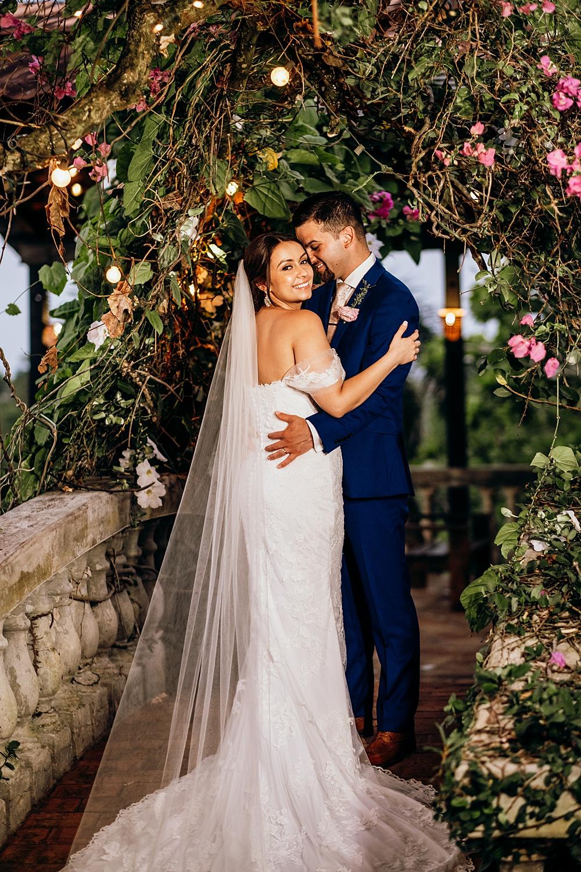 Romantic Garden Courtyard Wedding Photo