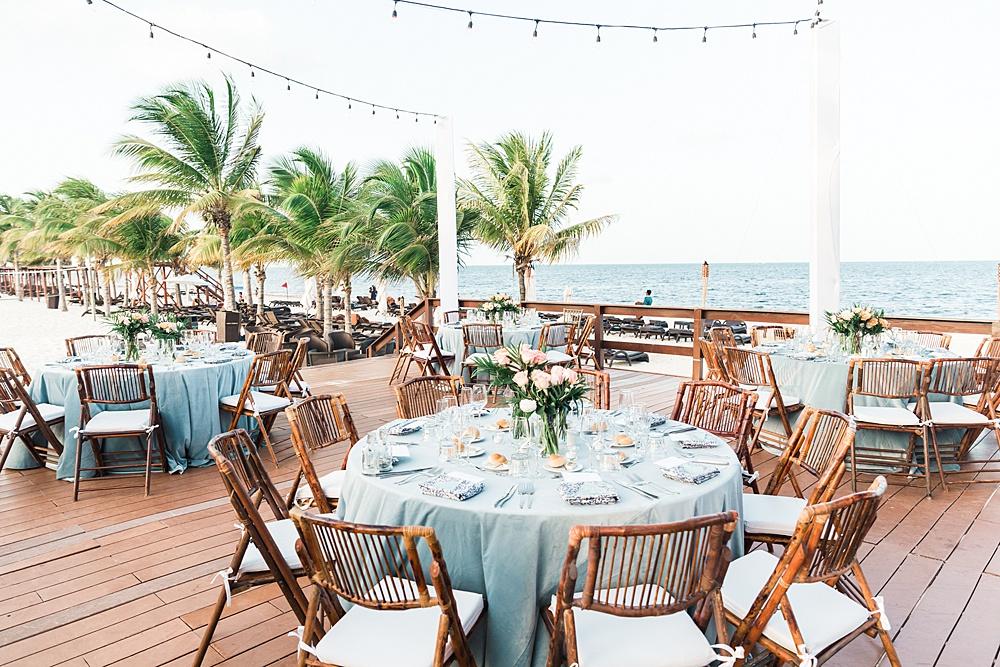 Royalton Riviera Tropical Blue Wedding Reception